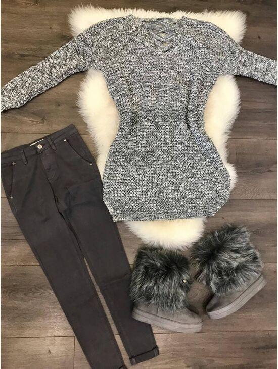 Hosszú kötött pulóver Odelia | Starstyle.hu