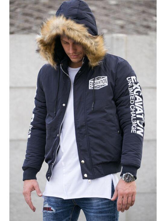 Férfi kabát levehető kapucnival  947e24b7e2
