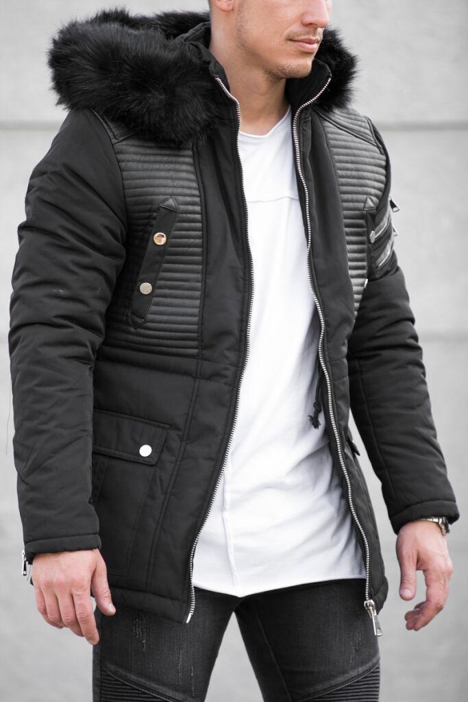 d8f3543cc6 Férfi kabát levehető szőrmével | Starstyle.hu