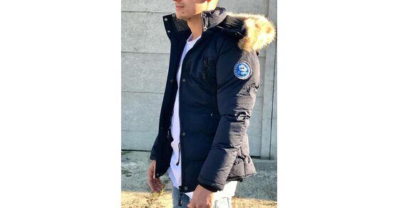 9c75f131ad Férfi téli kabát szőrmés kapucnival | Starstyle.hu
