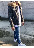 Férfi katonamintás téli bomber dzseki  05899a8696