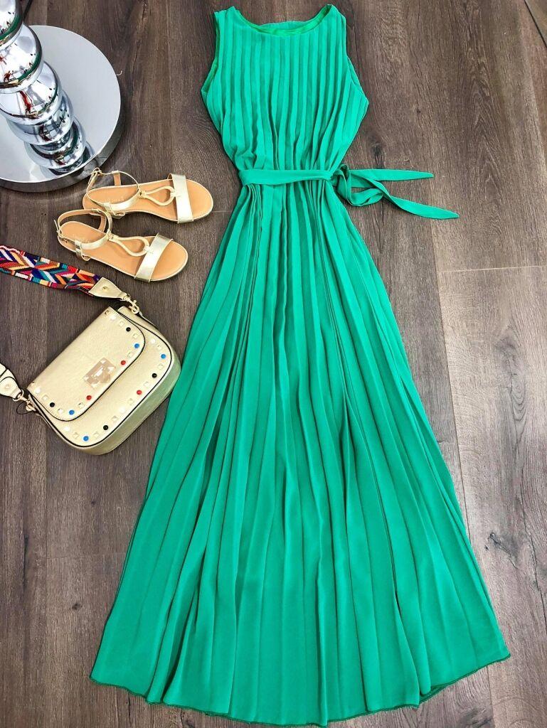 9fbc977568 Hosszú pliszírozott ruha | Starstyle.hu